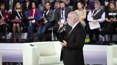 Moscow technological forum Open Innovations 2016 in Technopark Skolkovo. Speech Stock Footage