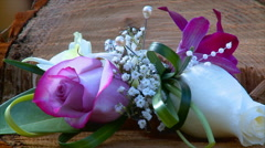 Wedding flowers accessories Stock Footage