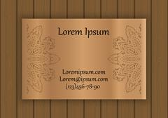 Business, visiting or invitation card template with a cut out pattern. May be Stock Illustration