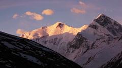 Annapurna Peak Sunrise Time Lapse Stock Footage