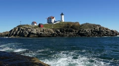 "Cape Neddick ""Nubble"" Lighthouse Stock Footage"