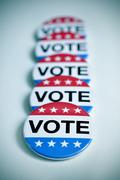 Badges for the United States election Stock Photos