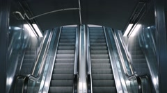 Empty moving escalator stairs Stock Footage