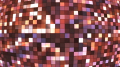 Broadcast Twinkling Hi-Tech Squares Globe, Brown, Abstract, Loopable, 4K Stock Footage