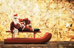 Christmas sleigh with Santa Claus Kuvituskuvat