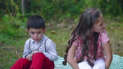 Young children quarreled. Stock Footage