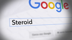 Google Search Engine - Search For Steroid Stock Footage