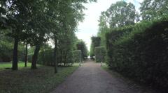 Alley in the Park in Peterhof Stock Footage