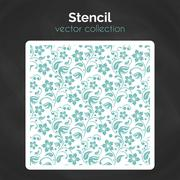 Stencil. Laser cuting template. Seamless pattern for decorative panel Stock Illustration