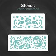 Stencil. Laser cuting template. Pattern for decorative panel Stock Illustration