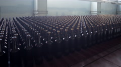 Bottle manufacturing technology. Glass recycling. 4K timelapse Stock Footage