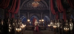 Throne room inauguration 3d rendering Stock Footage