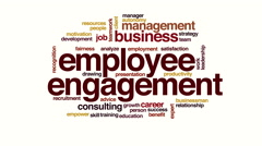 Employee engagement animated word cloud. Stock Footage