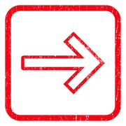 Arrow Right Icon Rubber Stamp Stock Illustration