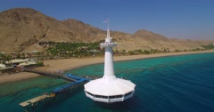 Underwater Observatory in the red sea  Eilat, Israel. Stock Footage