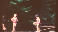 Boy and girls summer vacation Camping Stock Footage