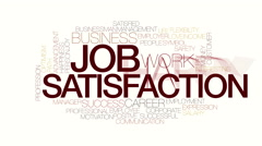 Job satisfaction animated word cloud. Kinetic typohraphy. Stock Footage