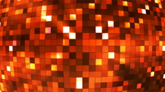 Broadcast Twinkling Hi-Tech Squares Globe, Golden, Abstract, Loopable, 4K Stock Footage