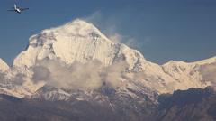 Dhaulagiri Peak Aircraft Stock Footage