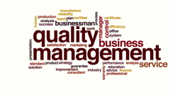 Quality management animated word cloud. Stock Footage