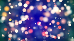 HD Loopable Background with nice multicolor bokeh Stock Footage