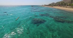 Red Sea Coral Beach Eilat Israel. Stock Footage