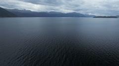 Hardanger fjord aerial video Stock Footage