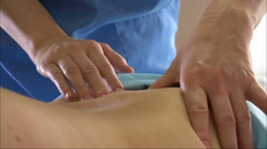 Body Massage Female Hands Close-Up Slow Motion Stock Footage
