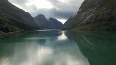 Aerial Norwegian landscape Stock Footage