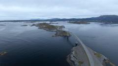 Atlantic Road in Norway Stock Footage