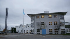 Wide shoot of Telenor Headquarters. Stock Footage