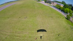 Skydiver in free fall Stock Footage