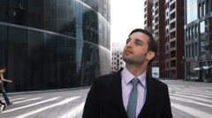Funny joke of pride and disgust in business Stock Footage