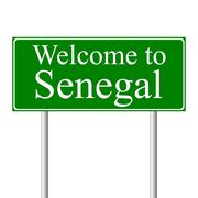 Welcome to Senegal, concept road sign Stock Illustration