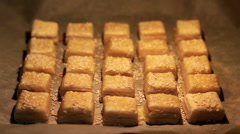 Baked puff pastry Stock Footage