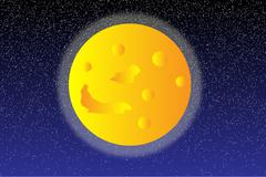 Moon on the night sky Piirros