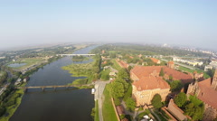 Castle of the Teutonic Order in Malbork Stock Footage