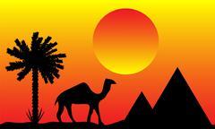 Sunset in Egypt Piirros