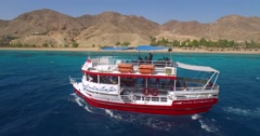 Tourist boat in Eilat, Israel Stock Footage