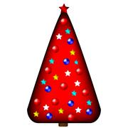 Decorated christmas tree Stock Illustration