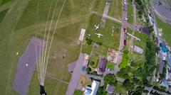 Skydiver landing Stock Footage