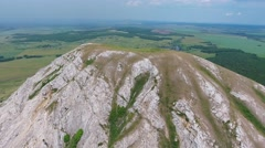Flying over Shikhan mountain (Tra-Tau), Russia Stock Footage