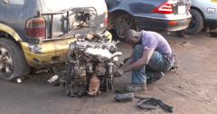 Ghanaian repairman Stock Footage