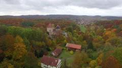 Castle Aerial hessen tannenburg Stock Footage
