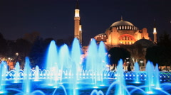 Hagia Sophia is the famous historical building of Istanbul. Now it's a museum as Stock Footage