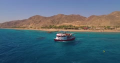 Tourist boat Red Sea. Stock Footage