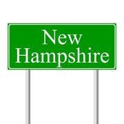 New Hampshire green road sign Stock Illustration