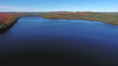 Algonquin Provincial Park , Canada, Video  - A lake in Ontario at Fall Stock Footage