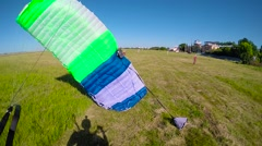 Skydiver landing Stock Footage