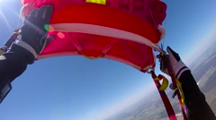 Parachute opening Stock Footage